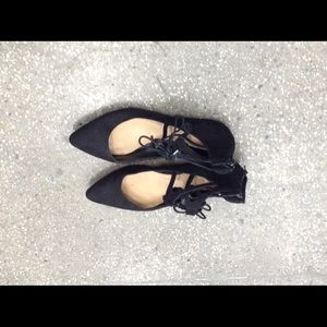 NINE WEST SUEDE COVERED FlATS NEW W/O TAGS SIZE 40
